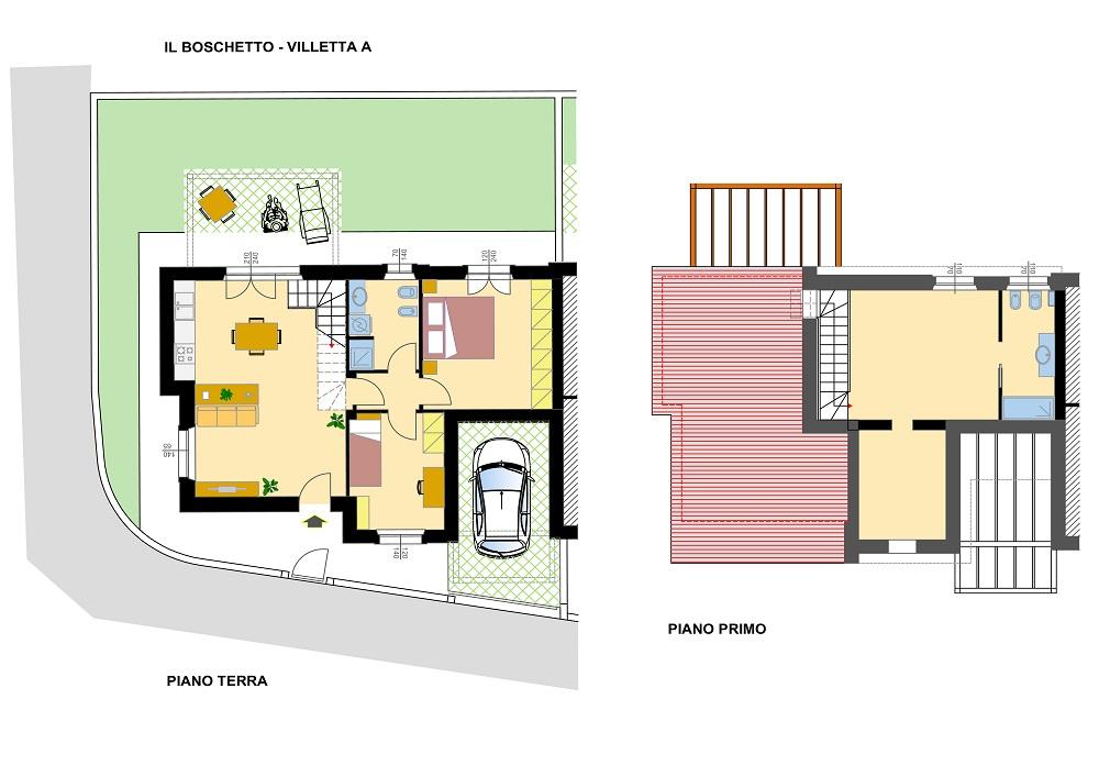 Planimetria villetta affordable preferenza modello marina for Progetto casa in legno dwg