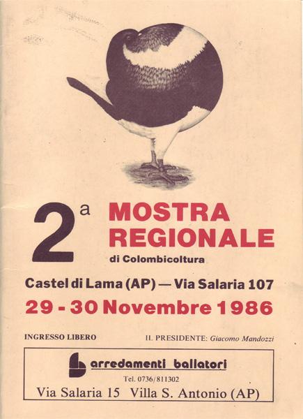 2^ Mostra Regionale di Colombicoltura